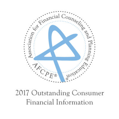 AFCPE 2017 Outstanding Consumer Financial Information Award