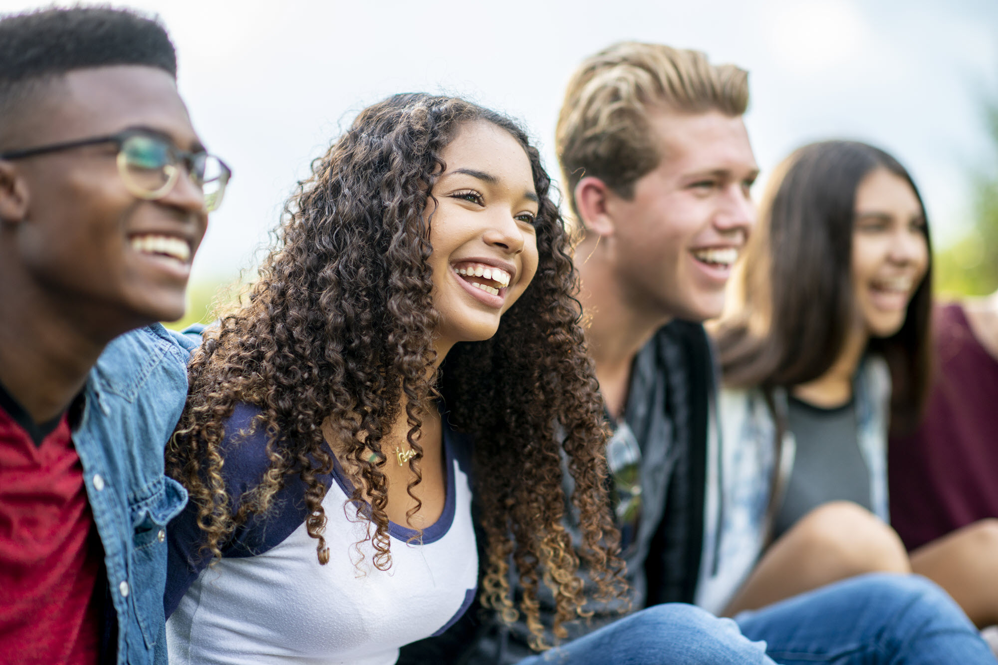 estudiantes sonriente